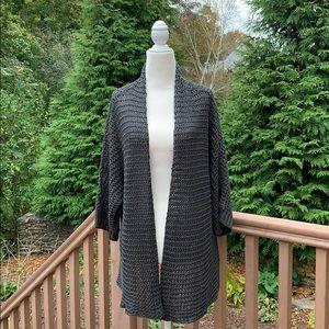 Eileen Fisher | Crochet Open Drape Cardigan